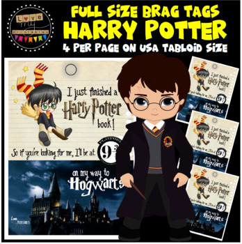 """BRAG TAGS - Harry Potter - Tabloid, 4pp - """"I Just Finished a Harry Potter Book"""""""