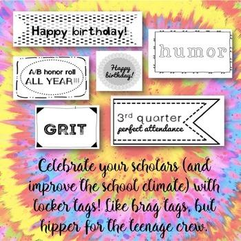 CBT Inspired Brag Tags HS Style: Locker Bling for School Climate Change