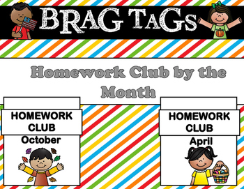 Brag Tags - Homework Club for the Year