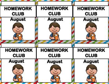 Brag Tags - Homework Club for the Year