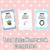 Brag Tags: Homework Completed Set