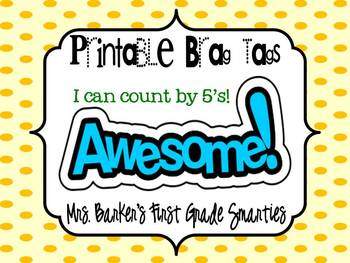 Brag Tags - I Can Count by 5's