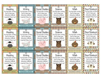 Brag Tags - Interactive Notebooks