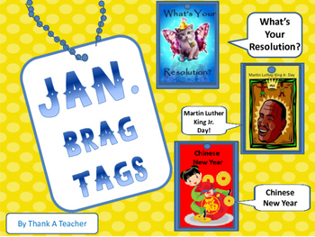 Brag Tags January New Years MLK Chinese New Year