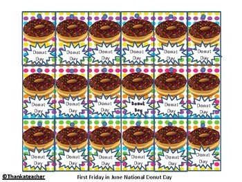 Brag Tags: June Flag Day  Donut Day Last Day of School