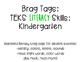 Brag Tags- Kinder Literacy & Math Skills