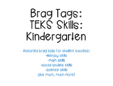 Brag Tags- Kinder Literacy & Math Skills