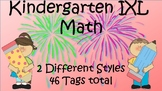 Brag Tags -- Kindergarten IXL Math ... 2 sets