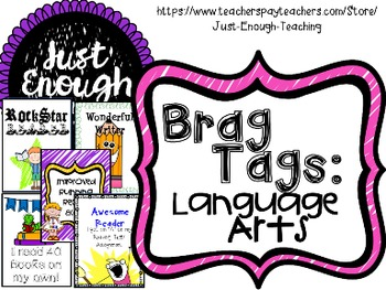 Brag Tags: Language Arts