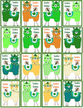 Brag Tags - Lucky Llama and 1 Blank - St Patrick's Day