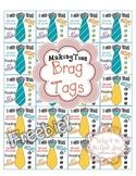 Brag Tags - Making Ties - Freebie!