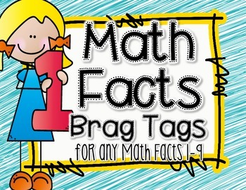Brag Tags - Math Facts Tags 1-9