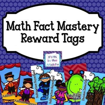 Math Fact Mastery Brag Tags