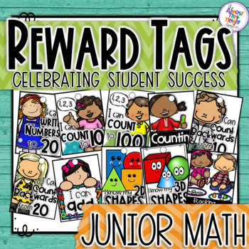 Brag Tags - Math tags for your Kindergarten/1st Grade Classroom