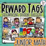 Reward Tags - Math tags for your Kindergarten/1st Grade Classroom