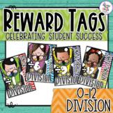Reward Tags - Maths - Division - Racing Through Division 0-12