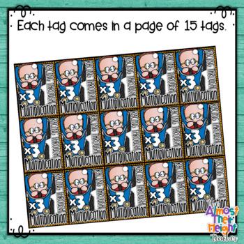 Brag Tags - Maths - Multiplication - Racing Through Multiplication 0-12