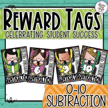 Brag Tags - Maths - Subtraction - Racing Through Subtraction 0-10
