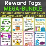 Brag Tags Mega Bundle (Alphabet, Numbers, Colors, Sight Words, 2D & 3D Shapes)