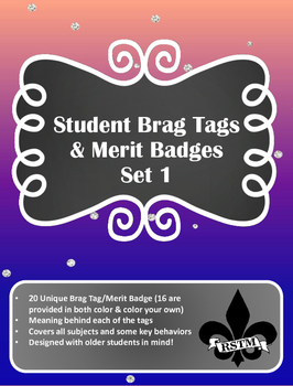 Brag Tags/Mertit Badges for older students--Set1
