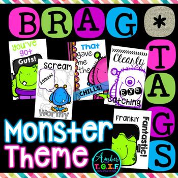 Brag Tags Monster Theme