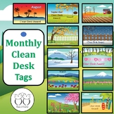 Brag Tags: Monthly Clean Desk Awards August - June