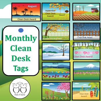 Brag Tags : Monthly Clean Desk Awards August - June