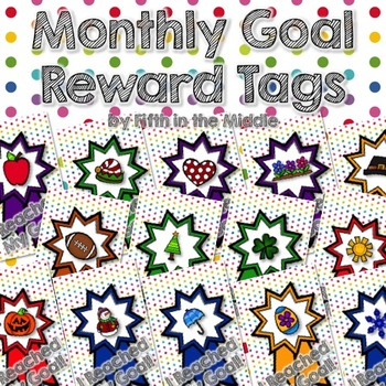Monthly Goals Brag Tags