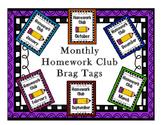 Brag Tags - Monthly Homework Club