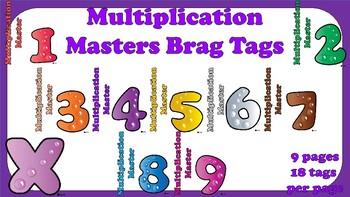 Brag Tags -- Multiplication Masters!