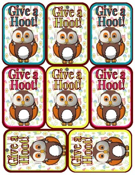 Brag Tags Owl Theme