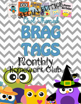 Brag Tags {Owl Themed} ::Homework Club::