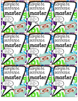 Brag Tags {Language Arts}