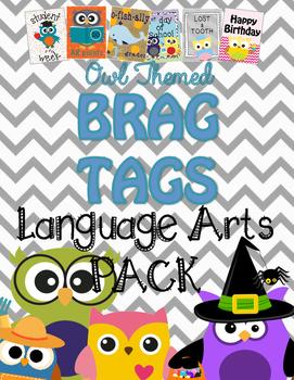 Brag Tags {Owl Themed} ::Language Arts::