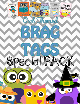 Brag Tags {Owl Themed} ::Oh-Fish-Ally a 1st Grader::