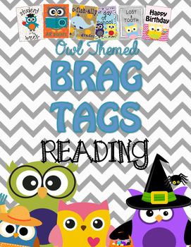 Brag Tags {Owl Themed} ::Reading::