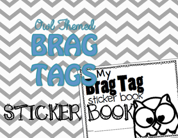 Brag Tags {Owl Themed} ::Sticker Book::