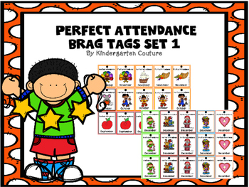 Brag Tags Perfect Attendance Set 1