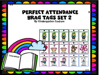 Brag Tags Perfect Attendance Set 2 Free