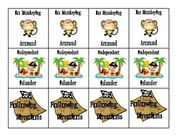 Brag Tags Pirate Themed