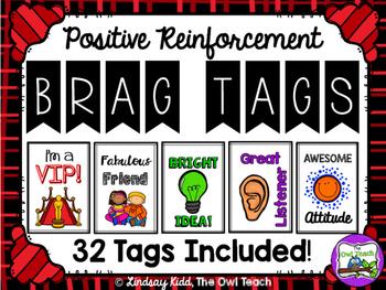 Brag Tags:  Positive Behavior Reinforcement