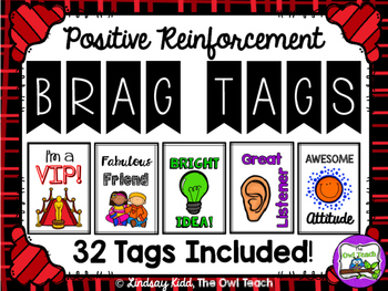 Brag Tags:  Positive Behavior Reinforcement