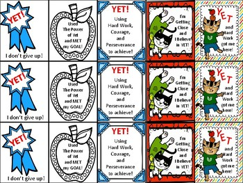 Brag Tags - Power of YET!