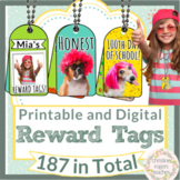 Brag Tags Printable and Digital Stickers Reward Tags Classroom Management