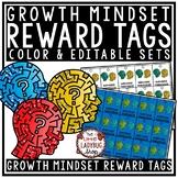 Reward Tags - Growth Mindset Classroom Management Coupons Editable