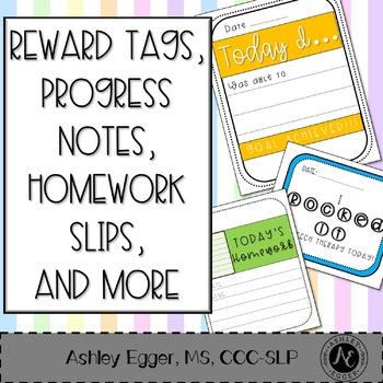Reward Tags, Progress Notes, and Check-Ins