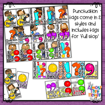 Brag Tags - Punctuation Tags - Classroom Management System