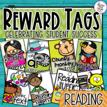 Reading Themed Brag Tags - A Classroom Management Reward System