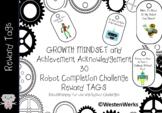 Brag Tags Robot Reward Growth Mindset Challenge Tags