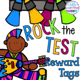 Rock the Test Brag Tags
